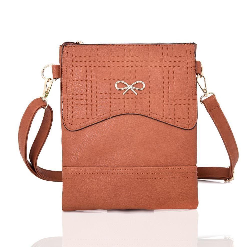a5dac28d5c4b Kereszttáska masnival, műbőr, vörösesbarna - Divatos táskák azonnal, olcsón,  raktárról - Bagnet