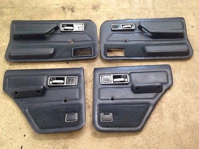 84 96 Jeep Cherokee Xj Or Wagoneer Door Panels Complete Set Manual Blue Oem Nice Jeep Cherokee Jeep Cherokee Xj Jeep