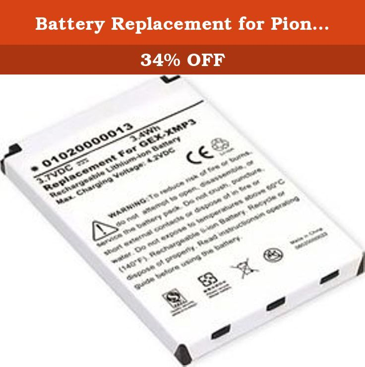 Battery Replacement For Pioneer Xm Radio Model Gex Xmp3 800mah 3 7v Xm 6900 0004 00 Extend The Life Of Your Xmp3 Radio Keep A Fully Cha Replacement Gex Radio