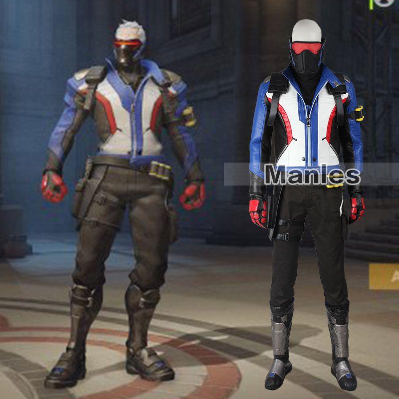 a97334eeb Overwatch 76 Soldier Ow Jacket Coat Cosplay Jack Costume Uniform Pc ...