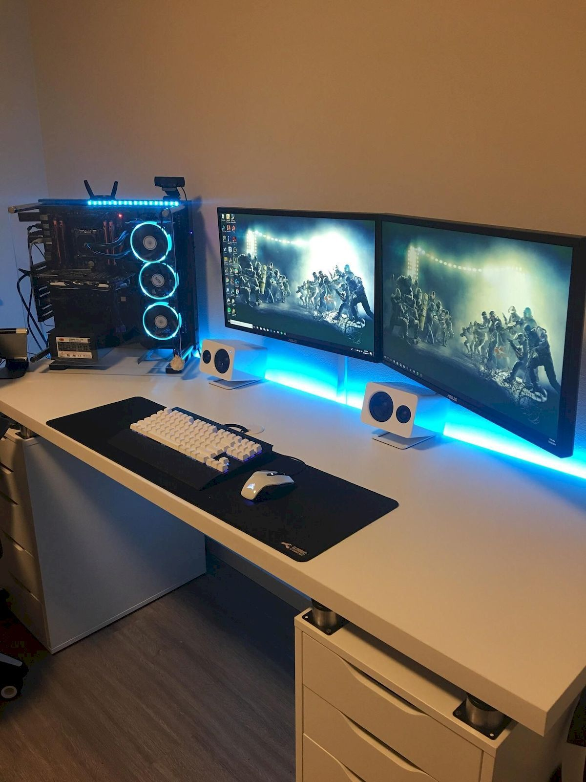 Computer Desk Diy Space Saving With Images Video Game Rooms