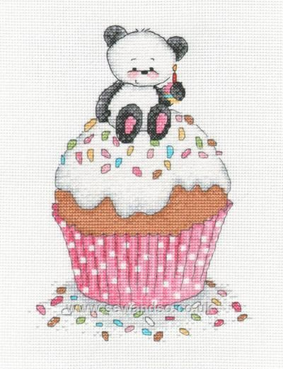 Cross Stitch - 'Party Paws Cupcake'
