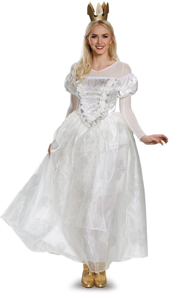 alice through the looking glass white queen deluxe adult costume - medium