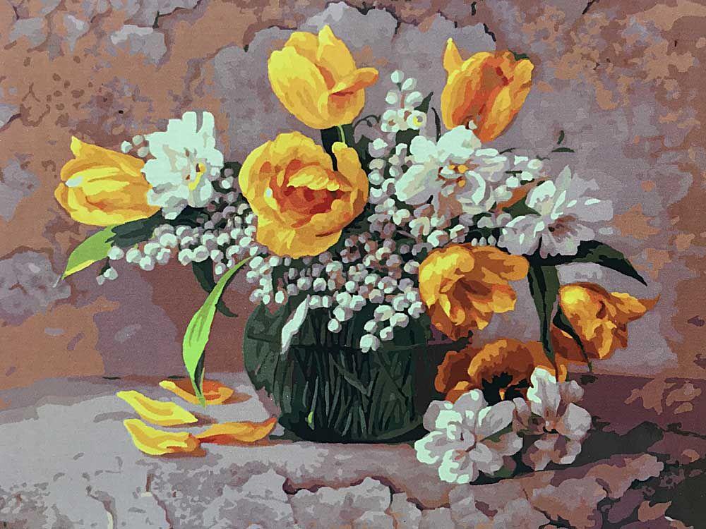Картина по номерам «Букет с ландышами» | Цветы, Цветочное ...
