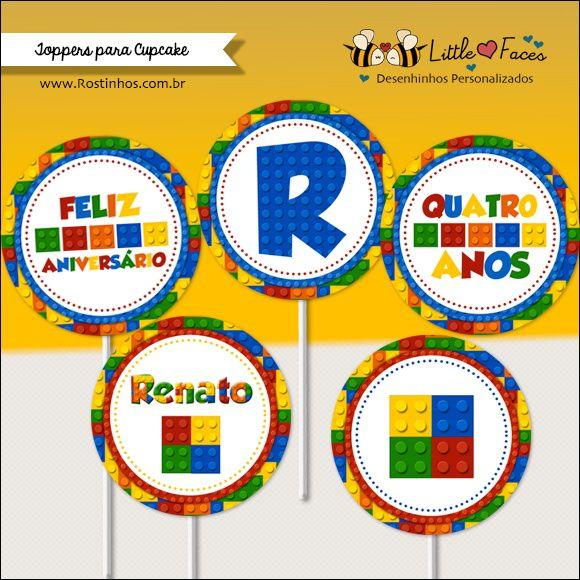 Kit Festa Lego Digital para imprimir