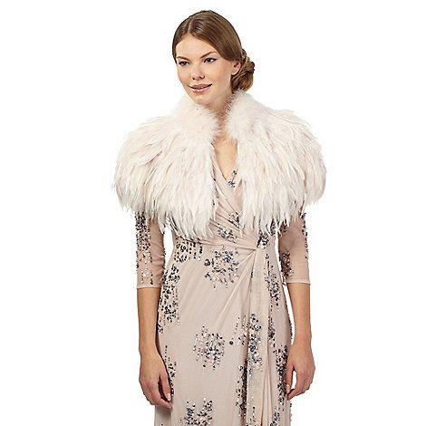 Pink Feather Wedding Dress