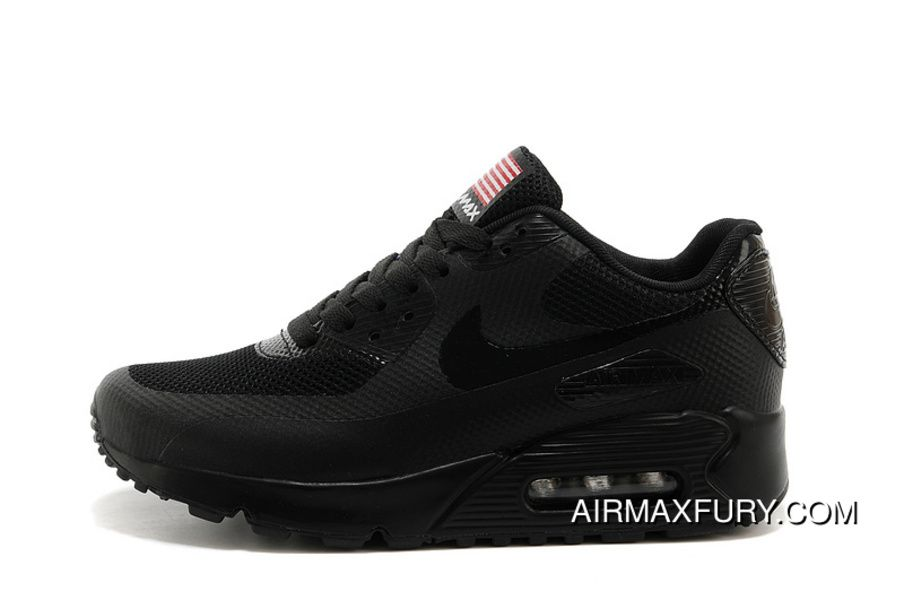 big sale bfc82 c1dc3 MAX90 40-45 Nike Air Max 90 USA Flag American 2018 All Black Top Deals