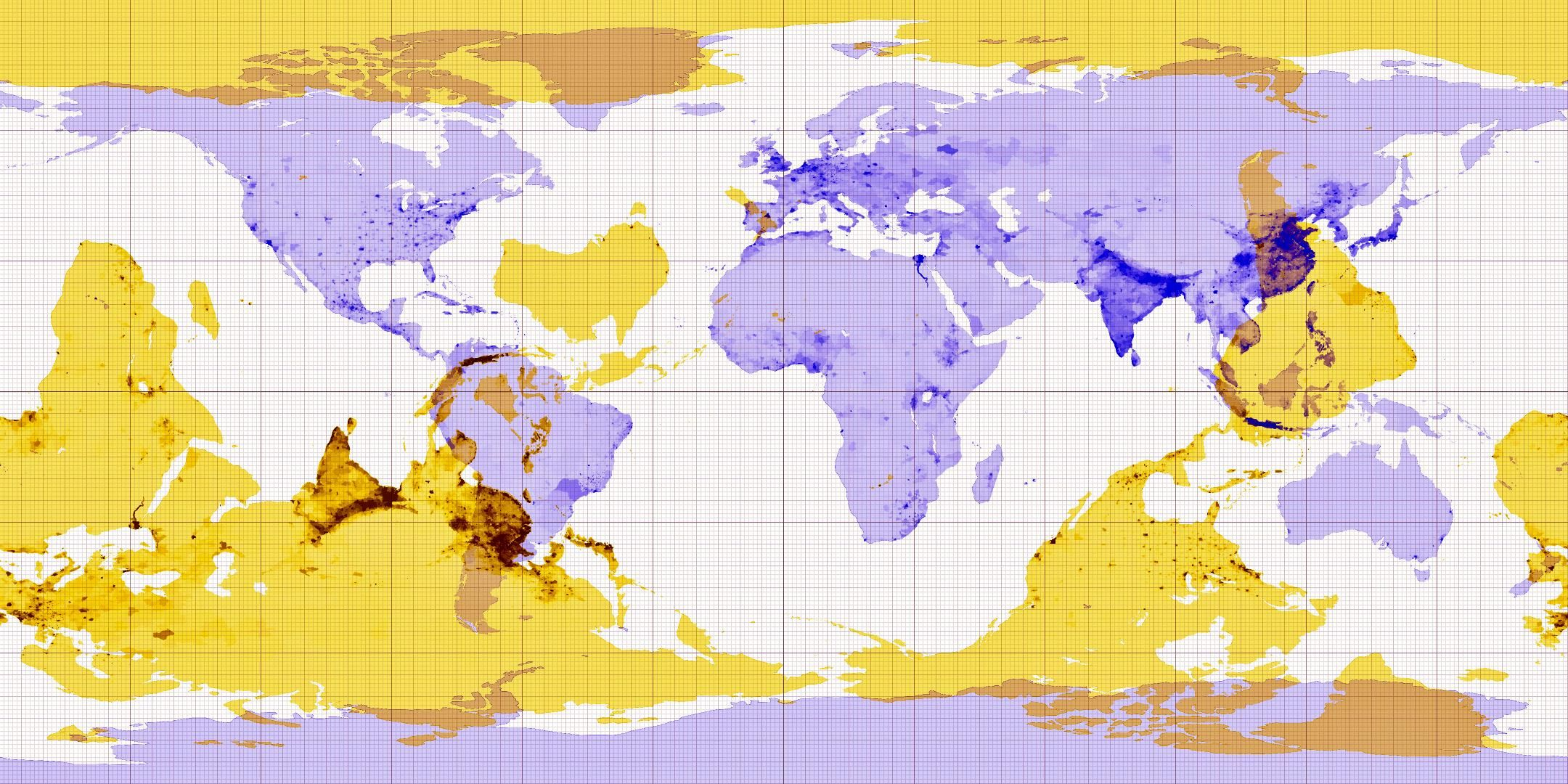 This map helps you find the antipodes (the other side of the world) of any place on Earth.