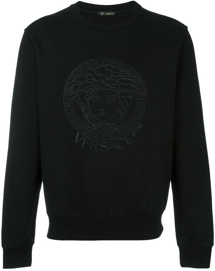 0bca02fb Shop Versace embroidered Medusa sweatshirt. | get fresh in 2019 | Versace  fashion, Versace Men, Versace