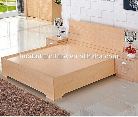 Modern Hot Sale Plywood Double Bed With Storage Plywood Plywood