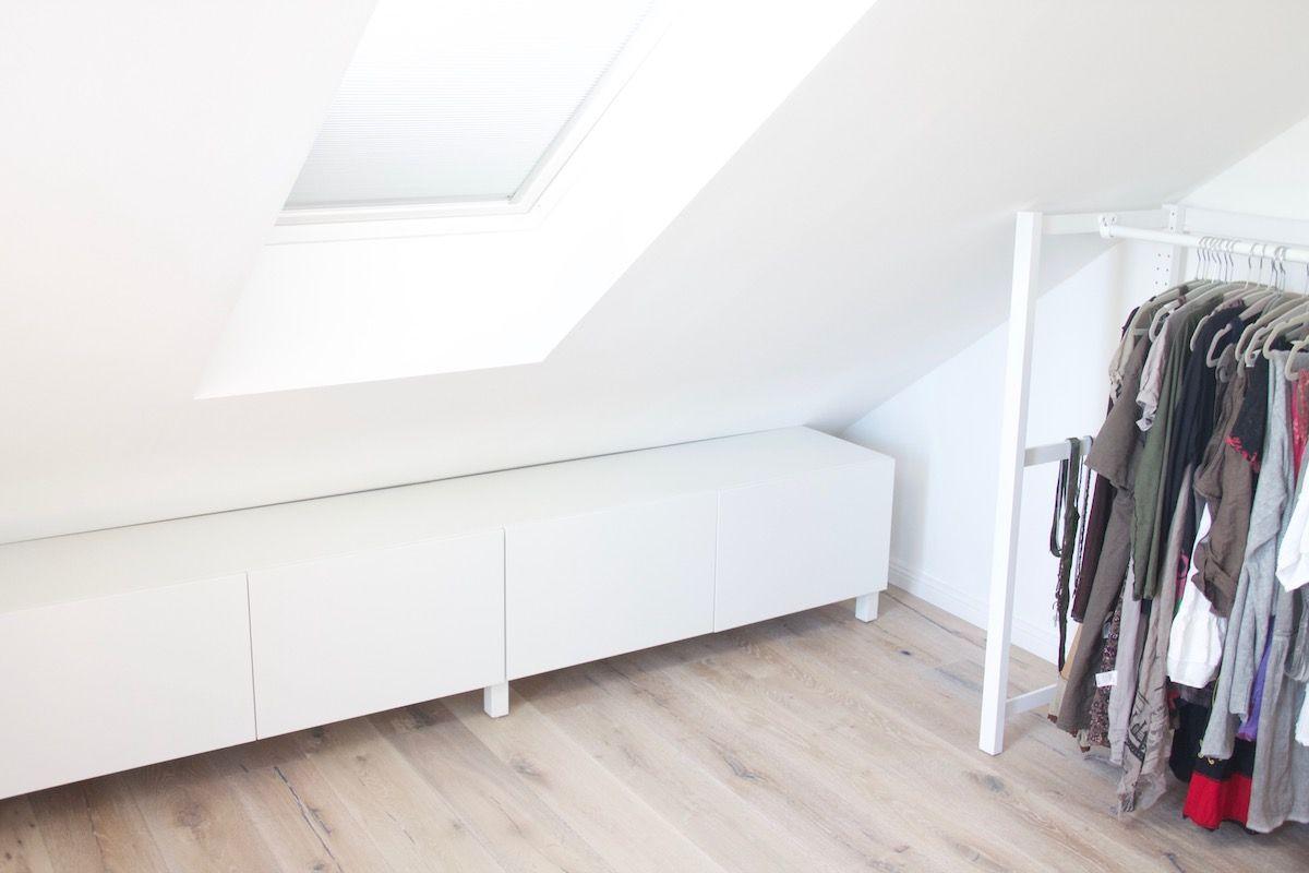 Offener Kleiderschrank Unter Der Dachschragen Ikea Hack In 2020