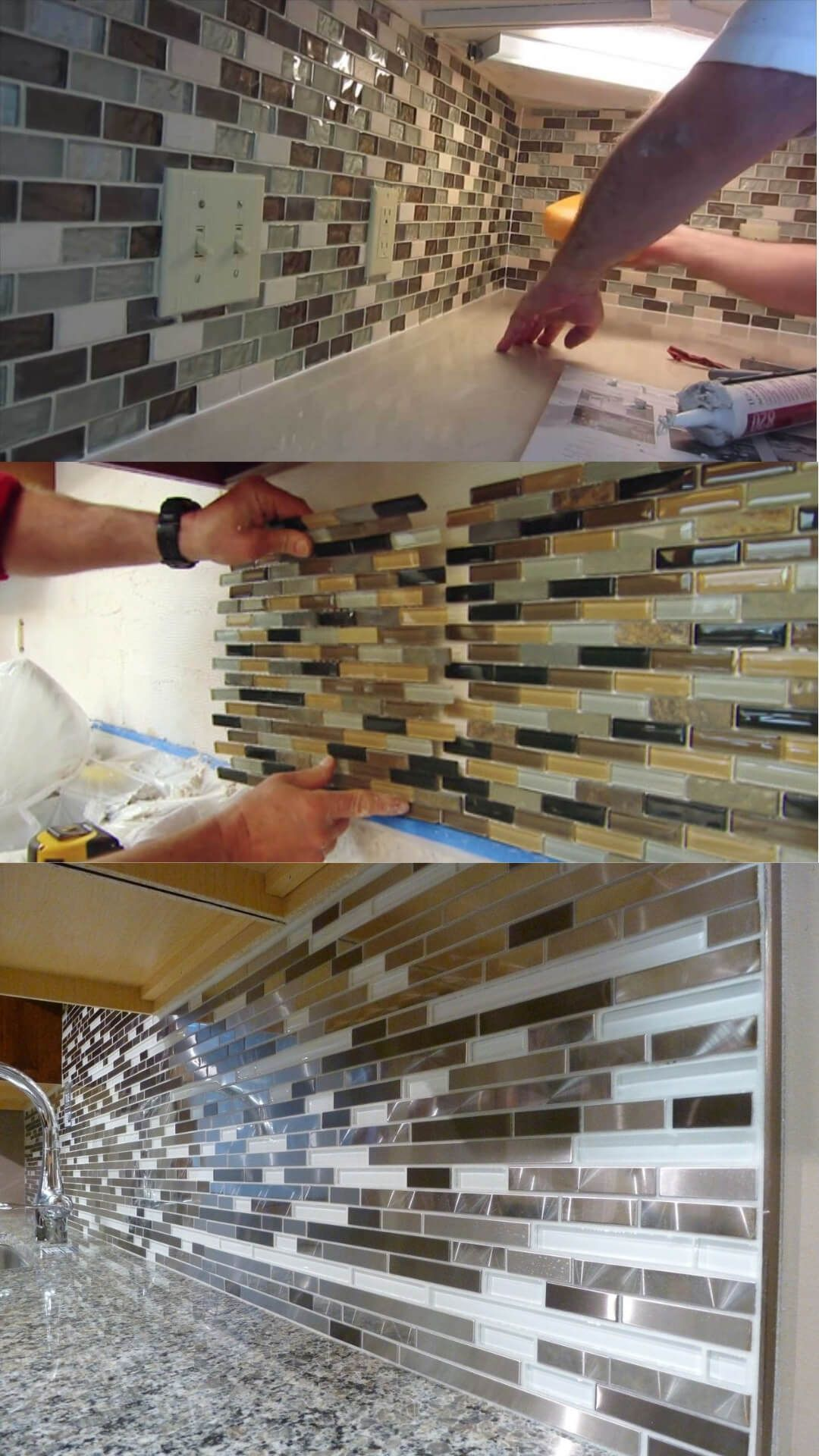 19 Ceramic Tile Mosaic Kitchen Backsplash Designs Ideas For