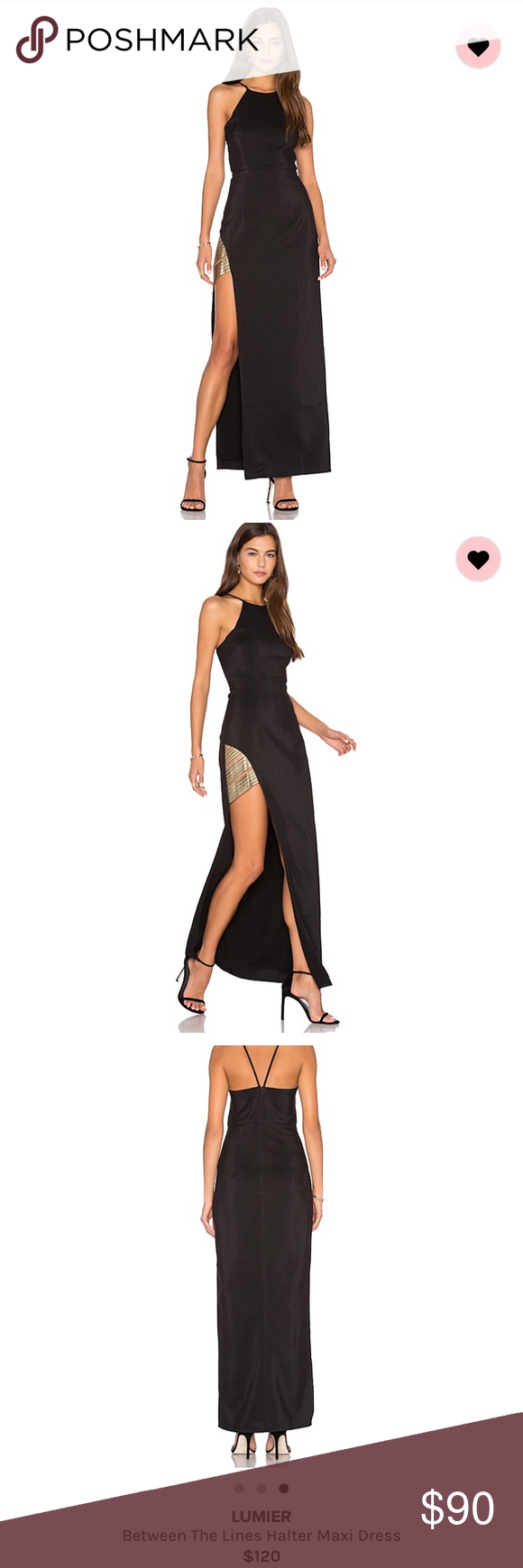Lumier between the lines maxi dress sold out beautiful black maxi