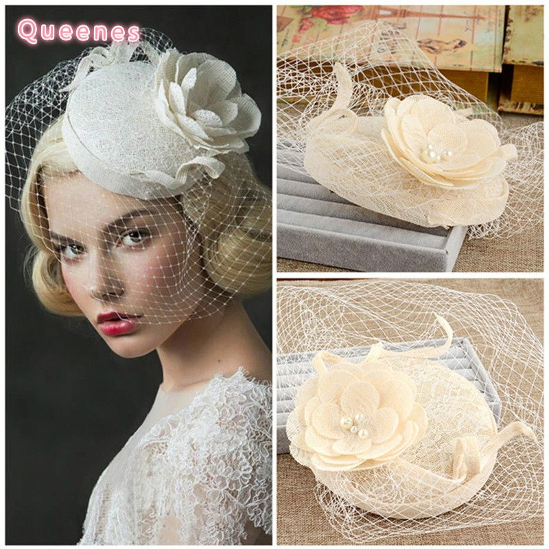 Cheap Bridal Hats Buy Quality Vintage Directly From China Wedding Suppliers Hair Accessories Flower Tulle