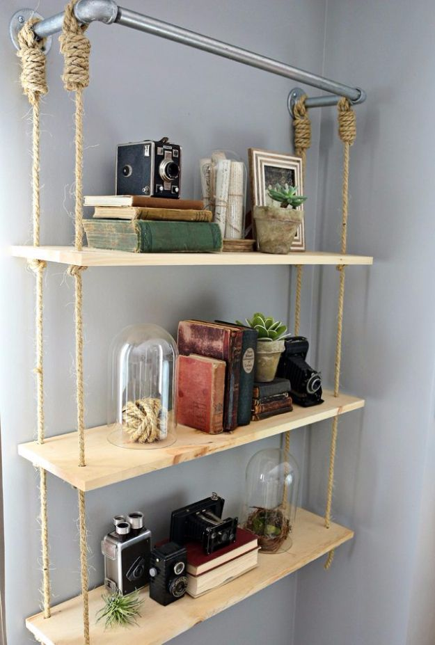 37 brilliantly creative diy shelving ideas diy shelving Cool wood shelf ideas