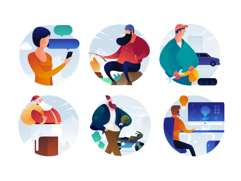 People Icons Illustration Character Design People Icon Icon Illustration