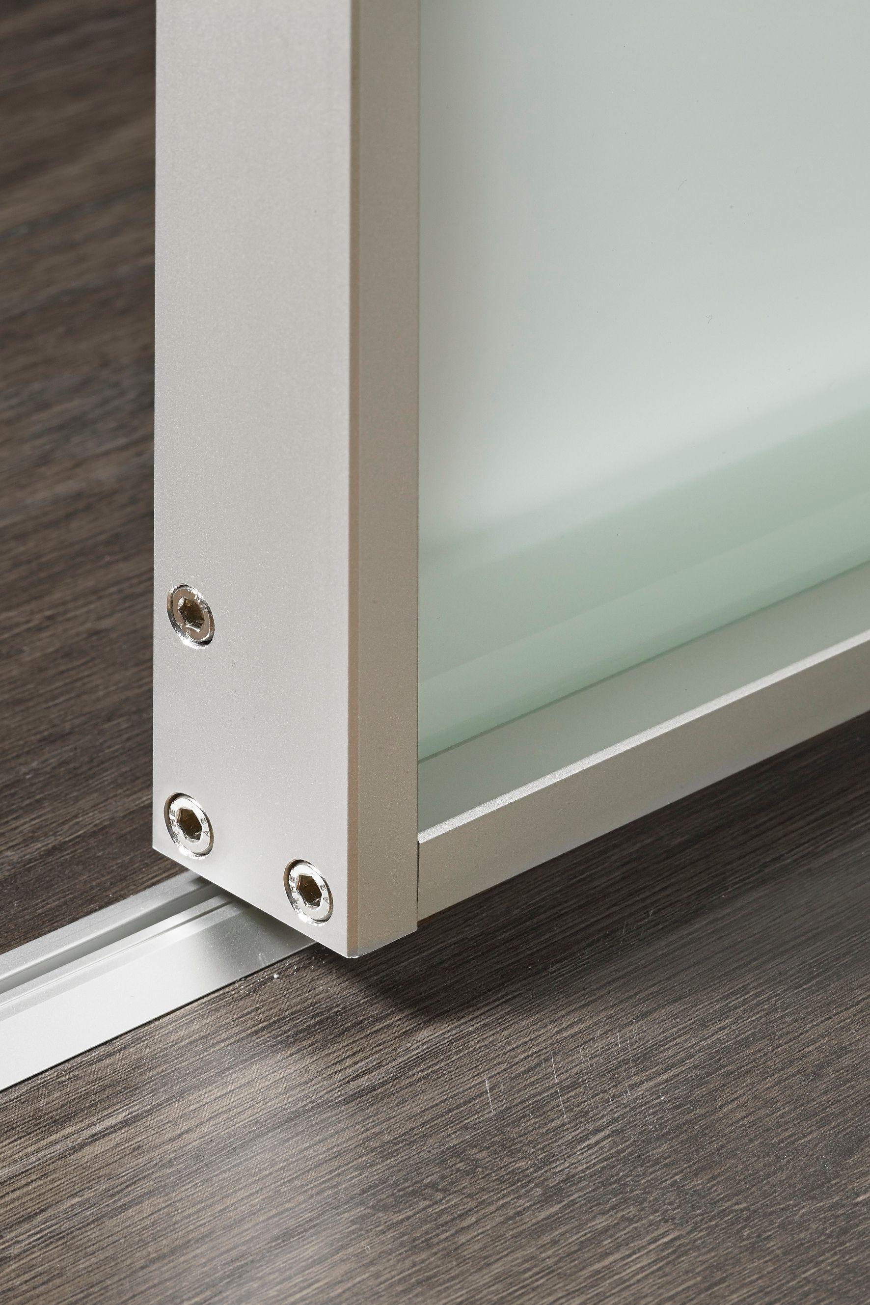 Easy Slide Schiebetur Mit Alurahmen Vsg Milchglas Space 1 In