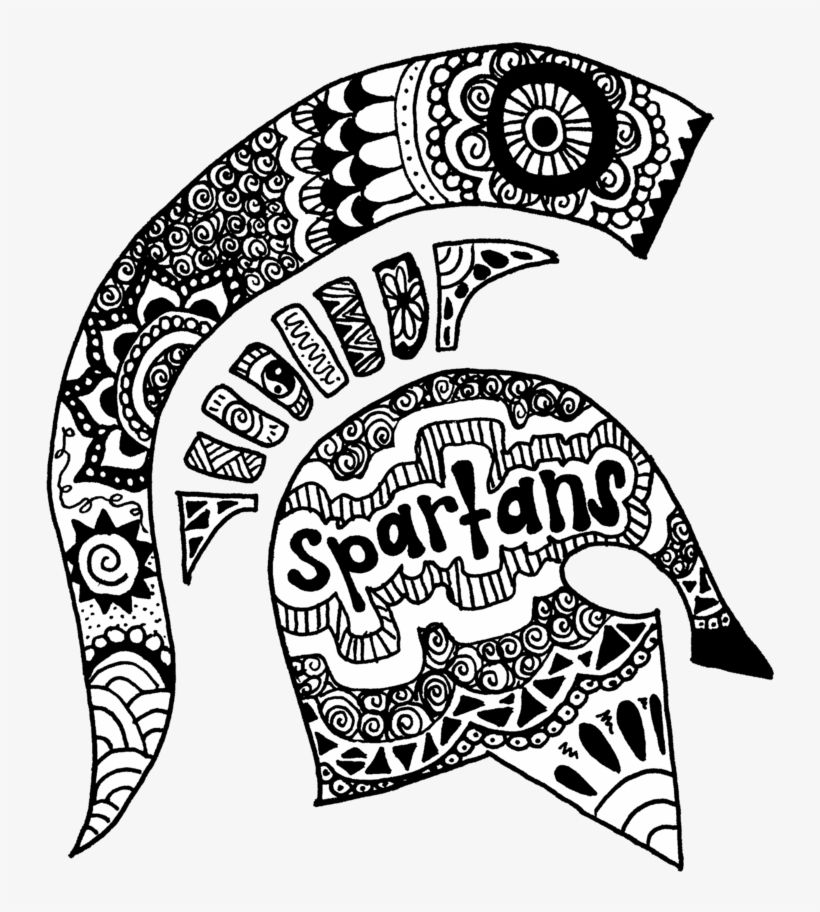 Download Michigan Spartans Zentangle Michigan State Spartans Coloring Pages For Free Nicepng Provides Michigan Art Michigan Spartans Michigan State Spartans