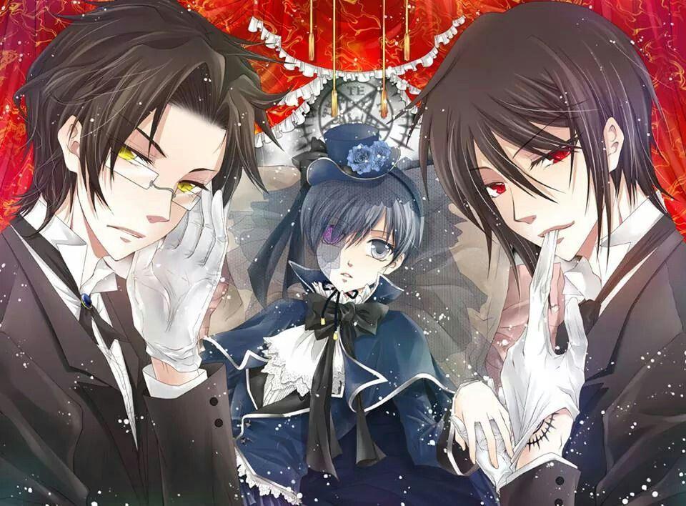 Claude, Ciel, and Sebastian