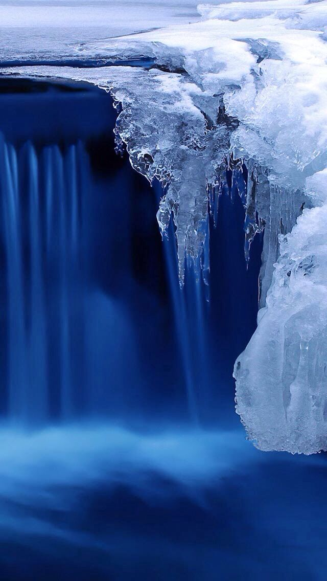 Never Thought Ice Could Be So Beautiful Nature Wallpaper Landscape Pictures Waterfall