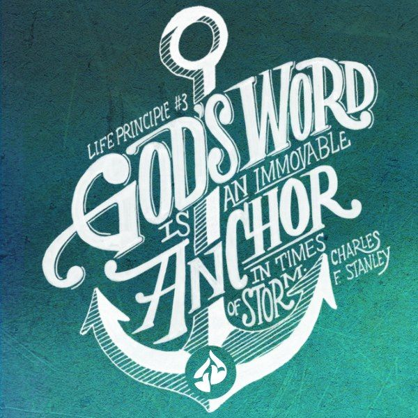Image result for God's Word is an immovable anchor in times of storm