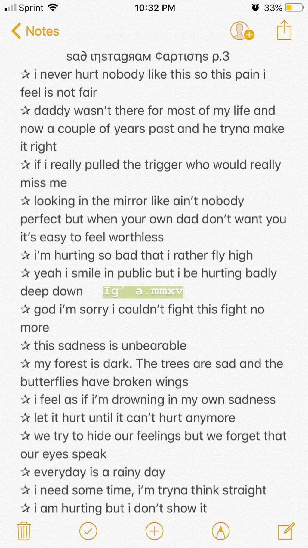 Sad Instagram Bio : instagram, Captions
