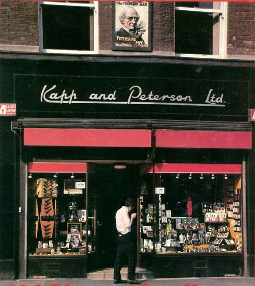"""Kapp  Peterson""""s Shop, Dublin. So many old places gone now. Progress they tell us."""