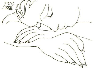 """Résultat de recherche d'images pour """"Pablo Picasso . Femme endormie 1952"""""""