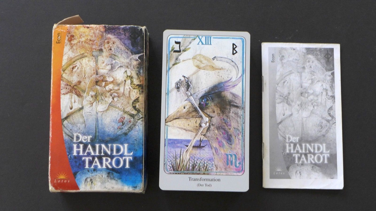 Xxl Large Vintage Haindl Tarot Cards Deck Lotus Verlag Germany