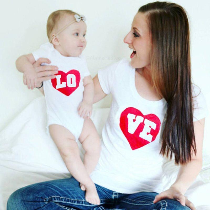 41e8925cf Madre e Hija de Ropa Embroma la Camiseta Mejores Amigos Camisas A Juego para  los Bebés Family Look Amo Mama Imprimir Tops Camisetas