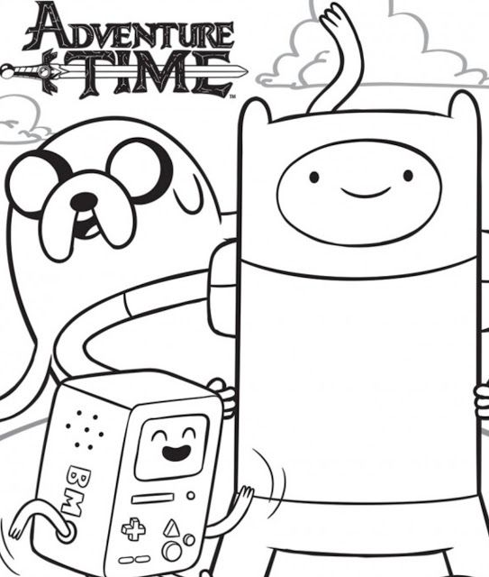 Adventure Time | Adventure time Coloring page | Pinterest