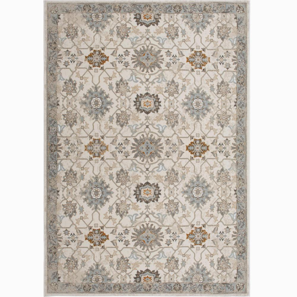 Unbranded Bazaar Luminous Ivory 8 Ft X 10 Ft Indoor Area Rug 1 220 100 The Home Depot Traditional Area Rugs Indoor Area Rugs Area Rugs