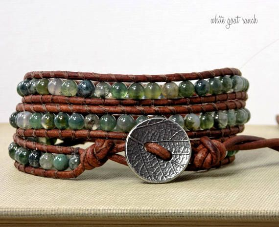 with lily pyrite products stone jewelry gilded and moss agate bracelet grande accent