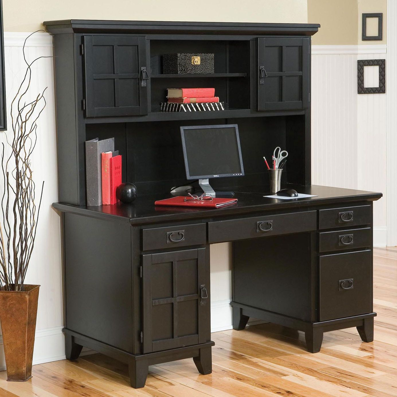 interior with desk supplies hutch furniture designing office home lovely