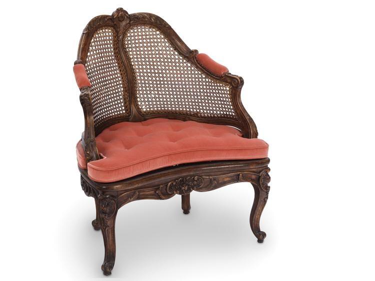 Fauteuil de Bureau. D'époque Louis XVI. En bois naturel. A f