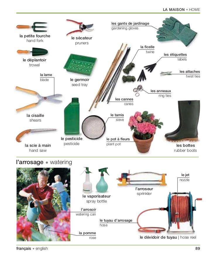 Les outils de jardin | French Language | Pinterest | Learning ...