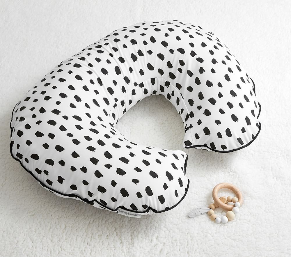 Black Brush Stroke Boppy 174 Nursing Amp Infant Support Pillow Amp Slipcover Pbkids In 2020 Boppy Nursing Pillow Pillow Slip Covers Baby Support Pillow