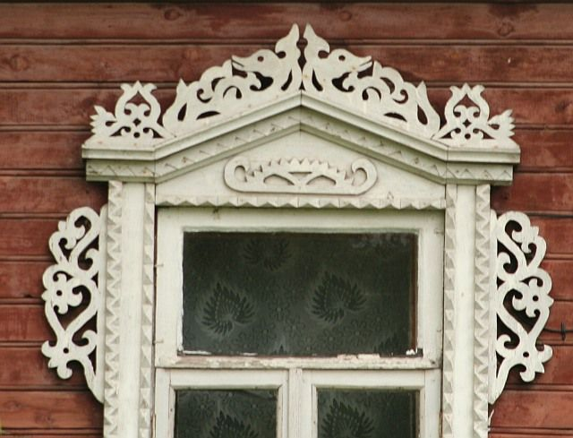 Merjamaa--russian nation formed from two ethnics  groups--Slavs and Merja. Presently already impossible define who there is who , this  ethnography will show  to us   Merja`s  window - in higher part of the window there is  curly dragons