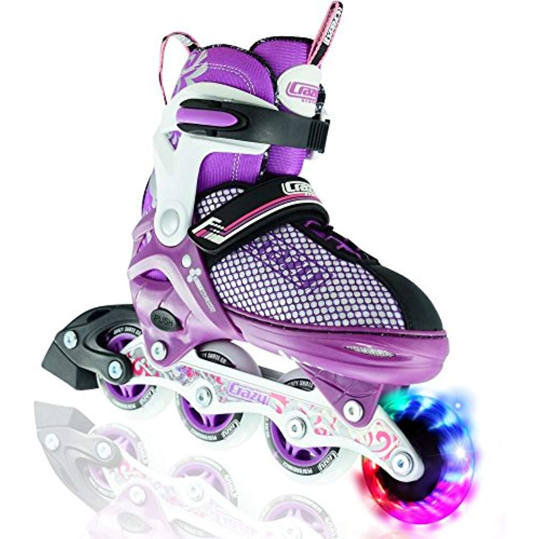 Adjustable Inline Skates Crazy Skates Sport Rollerblades Girls Boys Kids Youth
