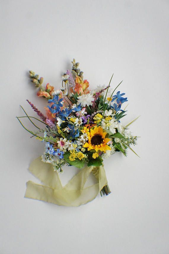 SOFORT LIEFERBAR, Wildblumenstrauß, Feldblumenstrauß, Hochzeitsstrauß, Brautstrauß, Hochzeitsblumen, Boho Bouquet, gelb, blau, grün  #brautstrau #feldblumenstrau #hochzeitsblumen #hochzeitsstrau #lieferbar #sofort #wildblumenstrau #flowerbouquetwedding