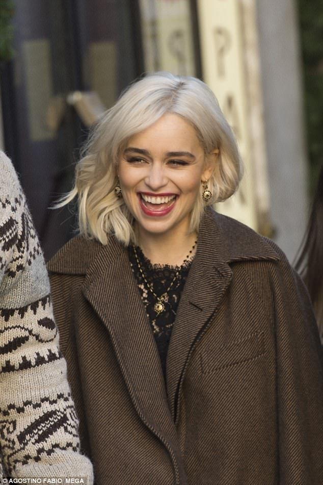 Photo of Emilia Clarke shoots new D&G campaign