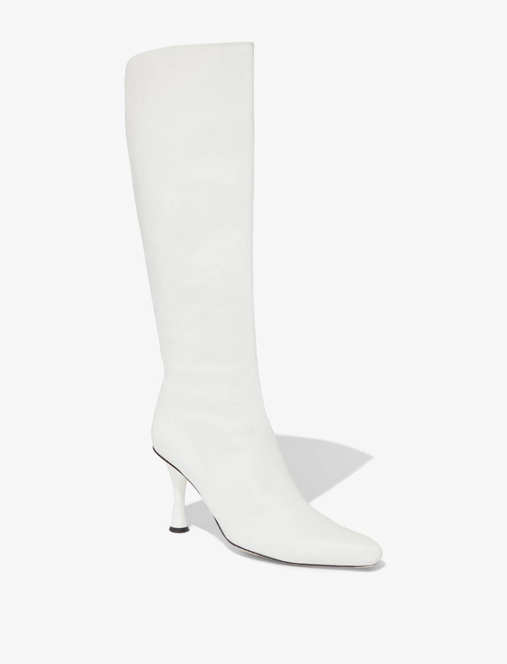 When you picture yourself walking down the streets of your favourite city, what do you see yourself wearing? The answer is Proenza Schouler and these white lambskin tall boots, perched atop a 90mm sculpted heel. They were made for you. Featuring a pointed toe, a square tip, a slip-on style, a knee-length and a sculpted high heel.