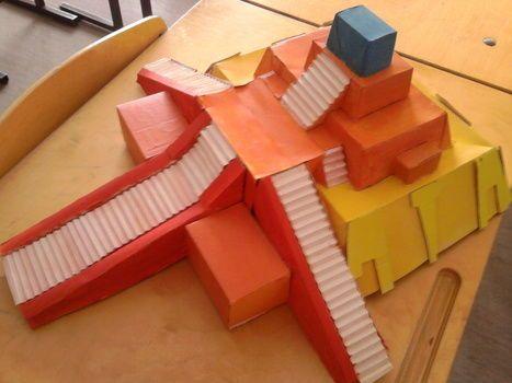 Ziggurat Made Of Cardboard Now That Is Ok Making A Model Homeschool Kindergarten Mystery