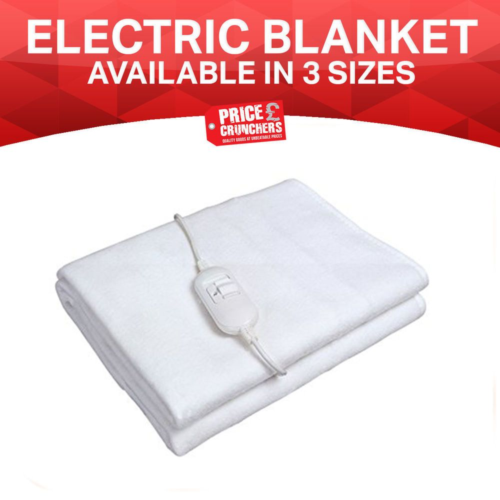 Electric Heated Single Double King Under Blanket Soft Warm Mattress Bed Cover