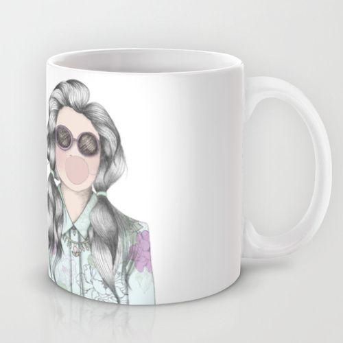 http://society6.com/jaramillita #bubblegum #illustration #mug