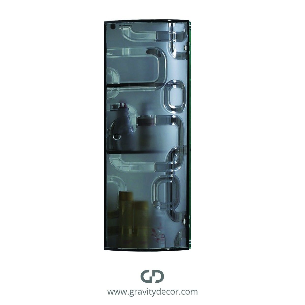 Crystal Grey Bathroom Corner Wall Mounted Glass Storage Cabinet With Single Door 299 99 In Stock