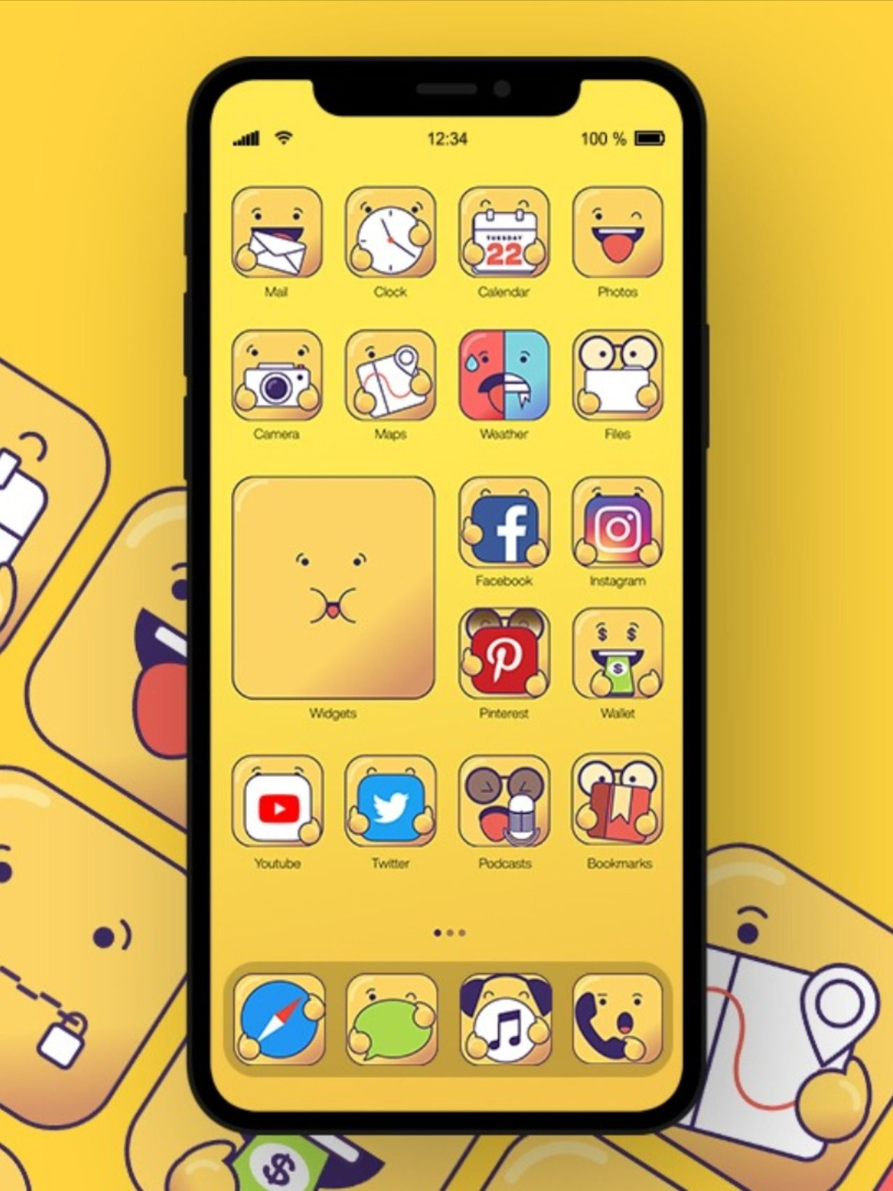 Ios 14 Icons Appy Icons In 2020 Homescreen Custom Icons Iphone