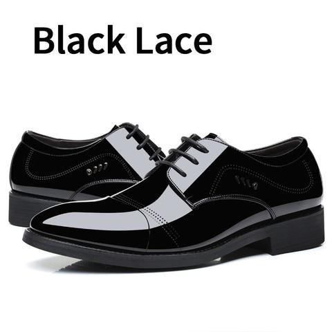 bimuduiyu patent pu leather black wedding shoes oxford