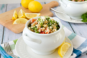 Grain-free Tabbouleh with Chickpeas
