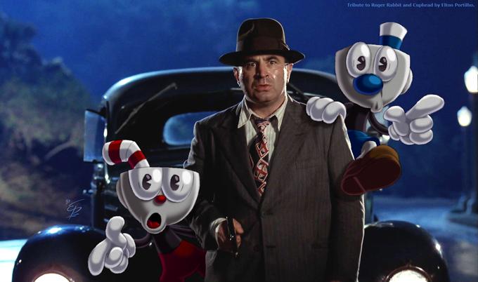 Who Framed   Cuphead and Mugman? | cool art | Cartoon games